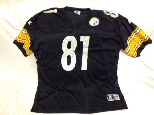 426dee738583 TROY EDWARDS PITTSBURGH STEELERS 81 NFL FOOTBALL JERSEY 2XL Size 54 Starter  85%OFF