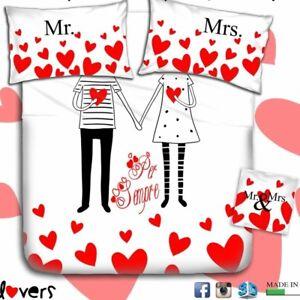 Lenzuola Matrimoniali Cartoni.Completo Lenzuola Matrimoniale 2 Piazze Innamorati Cartone