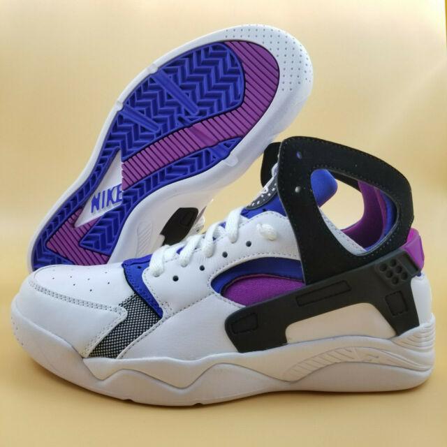 online retailer e9be7 dd0a4 Nike Air Flight Huarache PRM QS SIZE 7.5 Men Basketball Shoes White Black  Blue