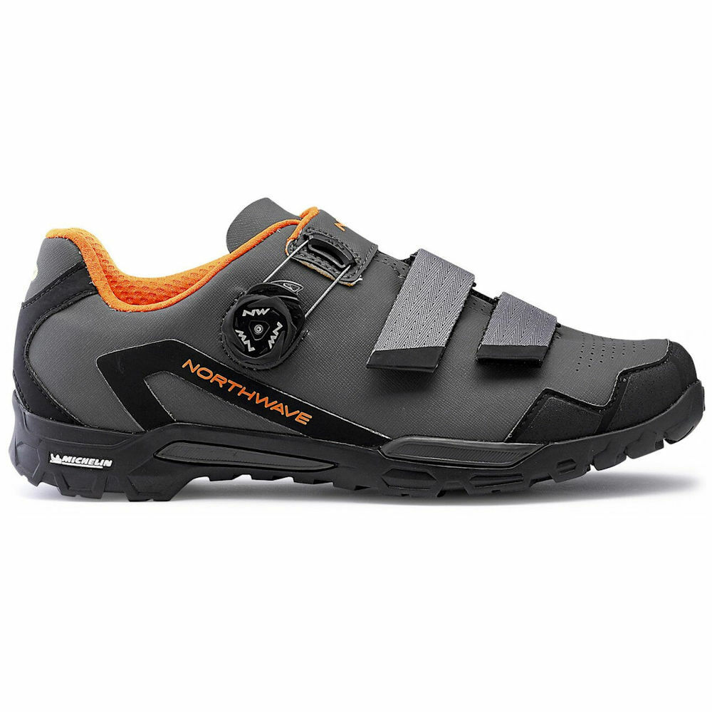 Northwave Outcross 2 Plus - shoes ciclismo MTB - Antracite   Arancio TG 45