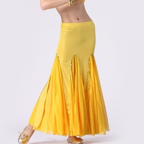 Belly Dance Costume Long Fishtail Skirt 9 Colors