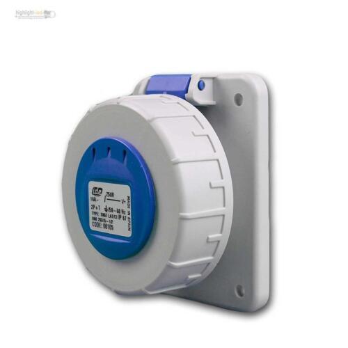 Schuko instalación enchufe, protección de contacto enchufe PARED de distribución ip67 azul embrague