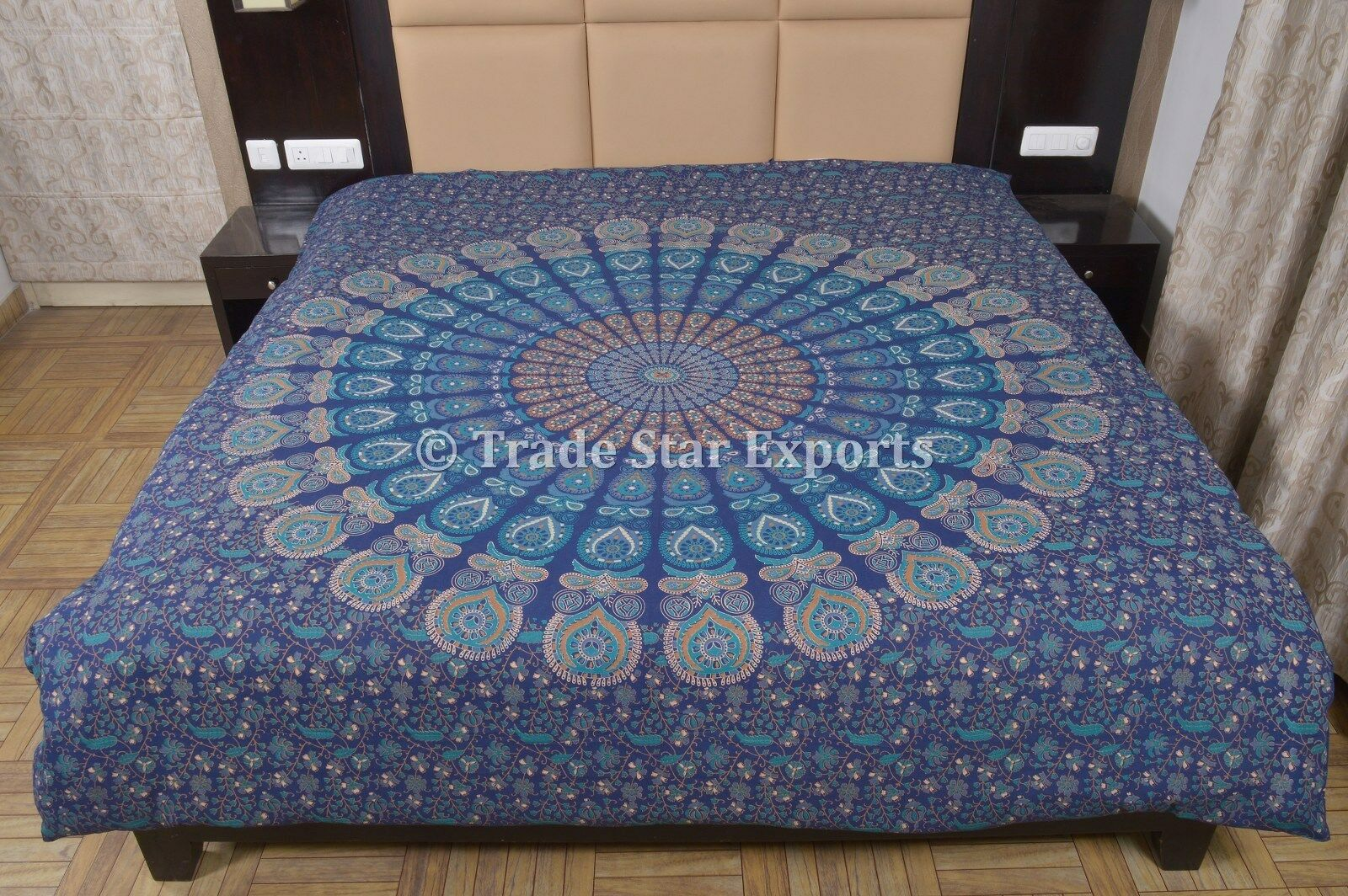 Indian Mandala Duvet Cover Ethnic Cotton Quilt Cover Boho Queen Comforter Cover