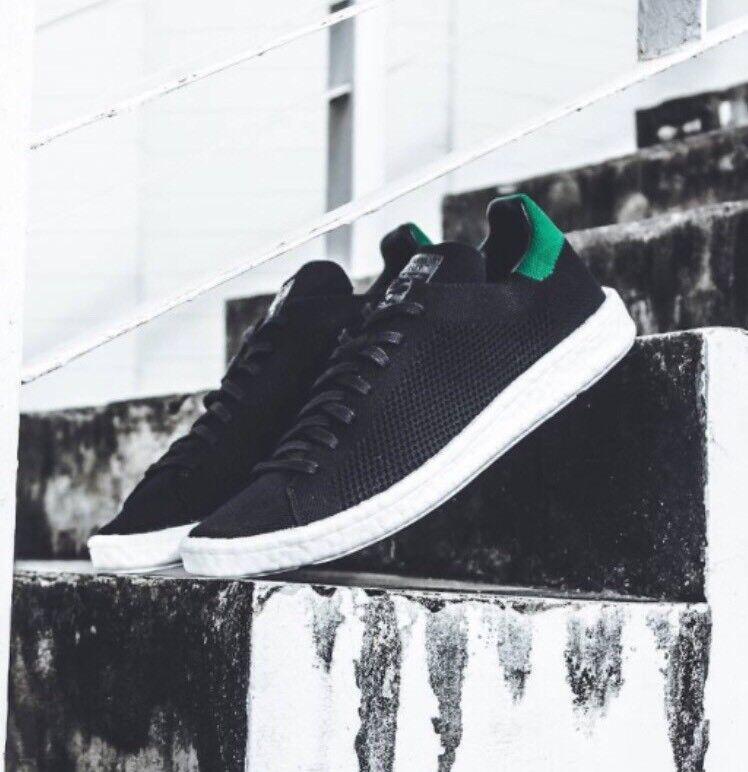 adidas Stan Smith PK Boost Black Green Primeknit White BZ0095 Nmd Ultra Men sz 7