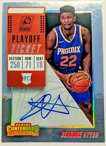 DeAndre-Ayton-2018-19-Contenders-Playoff-Ticket-Silver-Rookie-Auto-65-Suns-RC