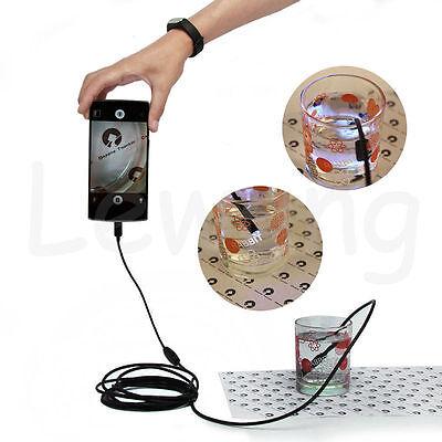 2M 6 LED USB Waterproof Endoscope Borescope Snake Inspection Video Camera 7mm 2Y