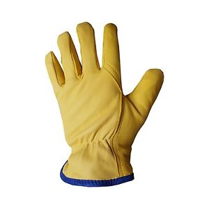 Ybs Driver Gloves Fleece Lined Leather Lorry Drivers Work