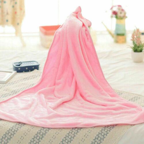 Flanell Decke Solid Warmes Fleece Plüsch Weich Überwurf Teppich Sofa Bettwäsche