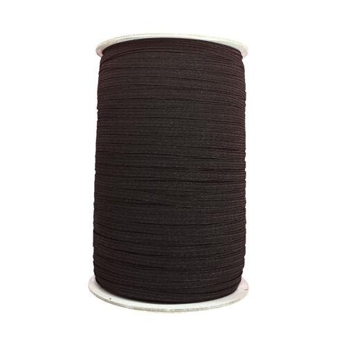 9mm Wide Flat Black Strong Woven Elastic Sewing Dressmaking Art Craft Trim Work