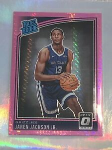 JAREN-JACKSON-JR-2018-19-PANINI-DONRUSS-OPTIC-PINK-HYPER-ROOKIE-CARD-GRIZZLIES