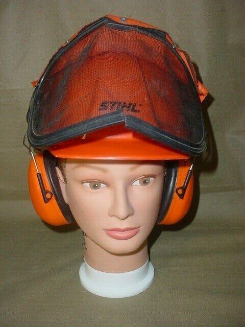 STHIL CHAINSAWS  Pro Helmet w Safety Visor & STIHL PELTOR Ear Muffs