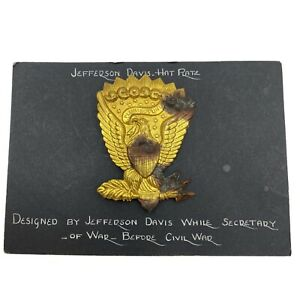 Civil War Union Jefferson Davis Hardee Hat Plate Badge Insignia