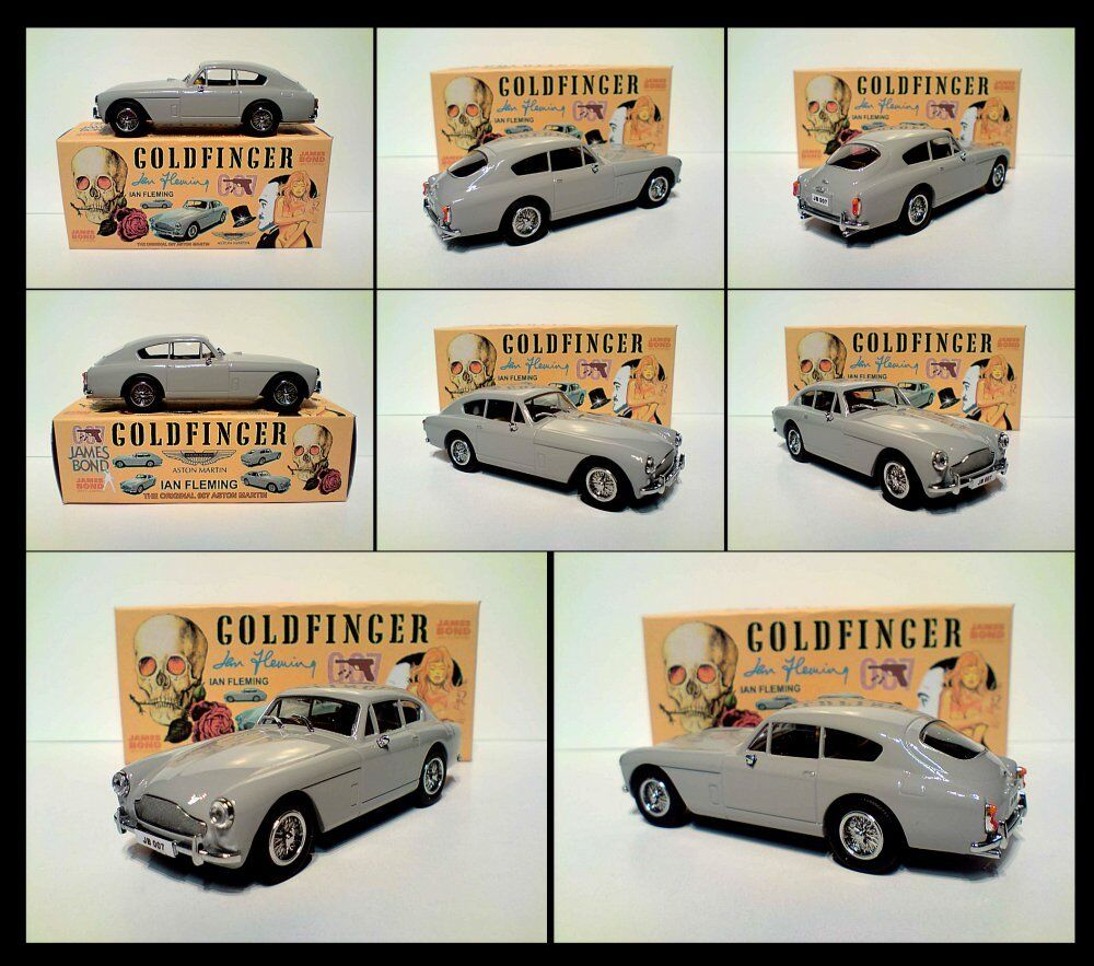 goldFINGER CODE 3 ASTON MARTIN DB3 IAN FLEMING BOOKS WITH CODE 3 DISPLAY BOX