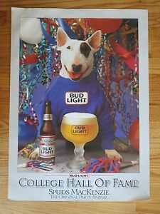 87 budweiser bud light spuds mackenzie original party animal college
