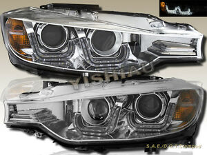 2012 2014 Bmw 3 Series 4dr Sedan Chrome Projector Headlights W Led