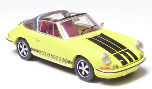 H0 BREKINA Personenkraftwagen Porsche 911 Targa hellgelb offenes Dach # 16265