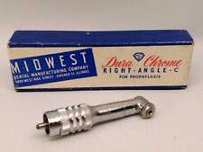 Vintage Midwest Dental Manufacturing Dura Chrome Right Angle C For Prophylaxis