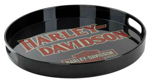 Harley-Davidson B/&S Melamine Serving Tray w// Cut-Out Handles Black HDX-98501
