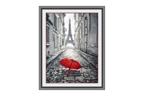 868 KIT Punto Croce pioggia a Parigi art