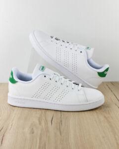 Adidas-Scarpe-Sportive-Sneakers-Advantage-Bianco-Verde-Pelle