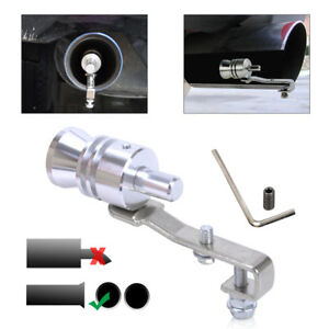 YUSHHO56T External Modified Muffler Exhaust Fake Turbo Muffler Blow Off Valve Whistle Pipe Sound Simulator Whistle L