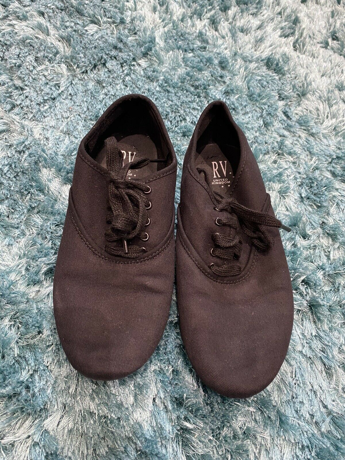 Boys Black Character Shoes Size 3