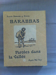 DESCAVES-Lucien-STEINLEN-Illustrateur-Barrabas-Paroles-dans-la-vallee
