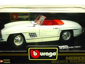 BURAGO-MERCEDES-BENZ-300-SL-034-ROADSTER-034-1957-SC-1-18-ORIG-BURAGO-MADE-IN-ITALY
