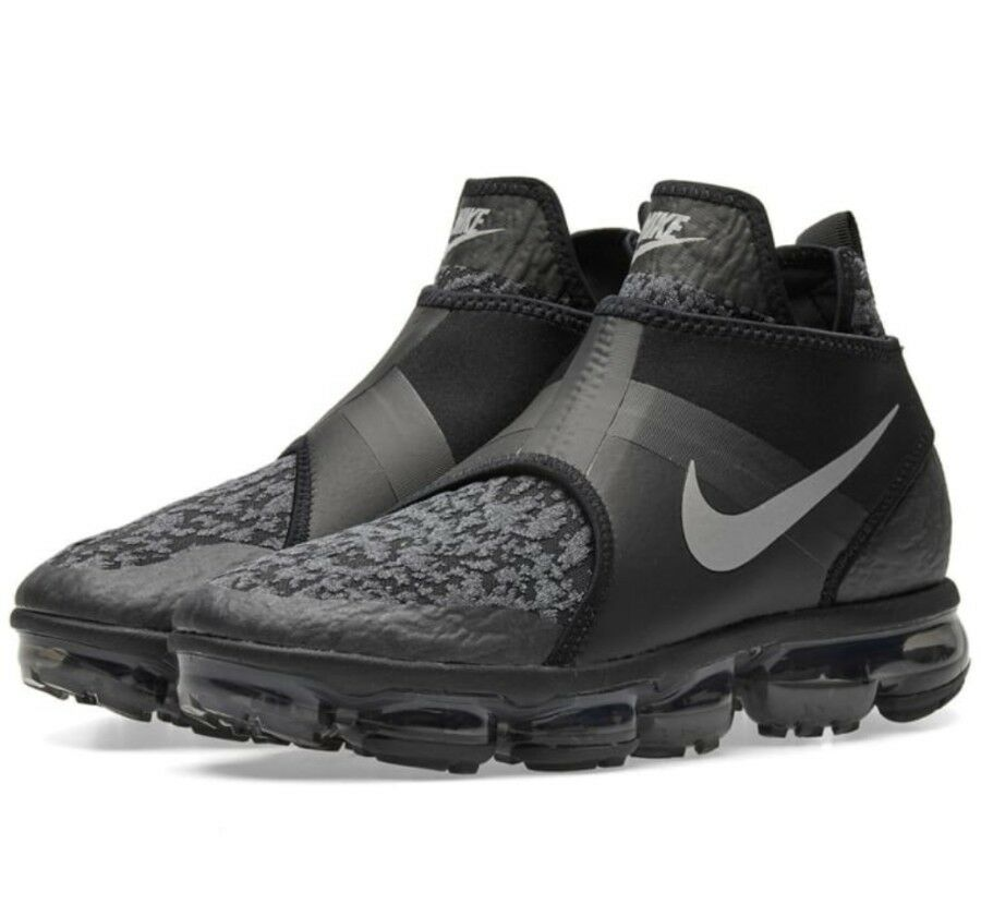 Nike Air Vapormax Chukka SLIP NOIR TAILLE 7.5 UK Genuine Authentic Baskets Homme-