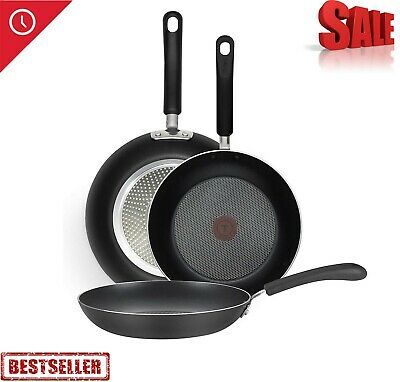 T-fal Nonstick Fry Pan, Cookware, 12 Inch Thermo-Spot Heat Indicator, Black  | eBay