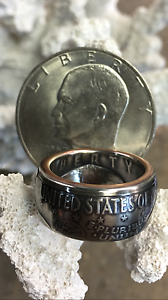 American History Quality 1976 Ike Eisenhower One Dollar Crafted Coin Ring