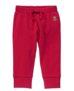 Gymboree-NWT-Baby-Boy-Girl-Newborn-0-M-Joy-Hope-Love-Bear-Pants-Holiday-Red
