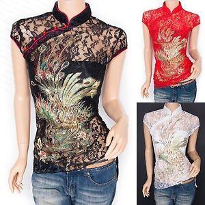 Unique-Phoenix-Embroidered-Sequins-Lace-Floral-Mandarin-Collar-Top