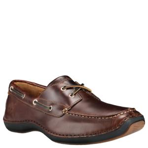 Détails sur Timberland pour Hommes Chaussures Bateau Annapolis 2 Œil Moc Toe Marron Racine