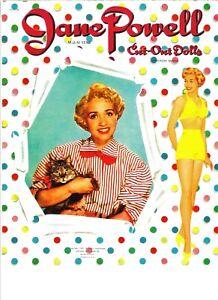 VINTAGE UNCUT 1950/'s MY DOLLS TAKE A TRIP PAPER DOLLS~#1 REPRODUCTION~FABULOUS!