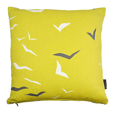 Scion Vintage/Retro 50s 60s Seaside birds fabric Cushion Cover- Flight Yellow