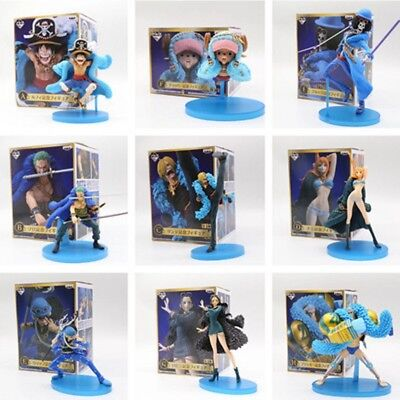 9PS//SET One Piece Monkey·D·Luffy The straw hat Pirates Anime Action Figures Toys
