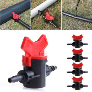Garden-Irrigation-4mm-Coupling-Pipe-Water-Hose-Switch-Plastic-Valve-Kit-2019