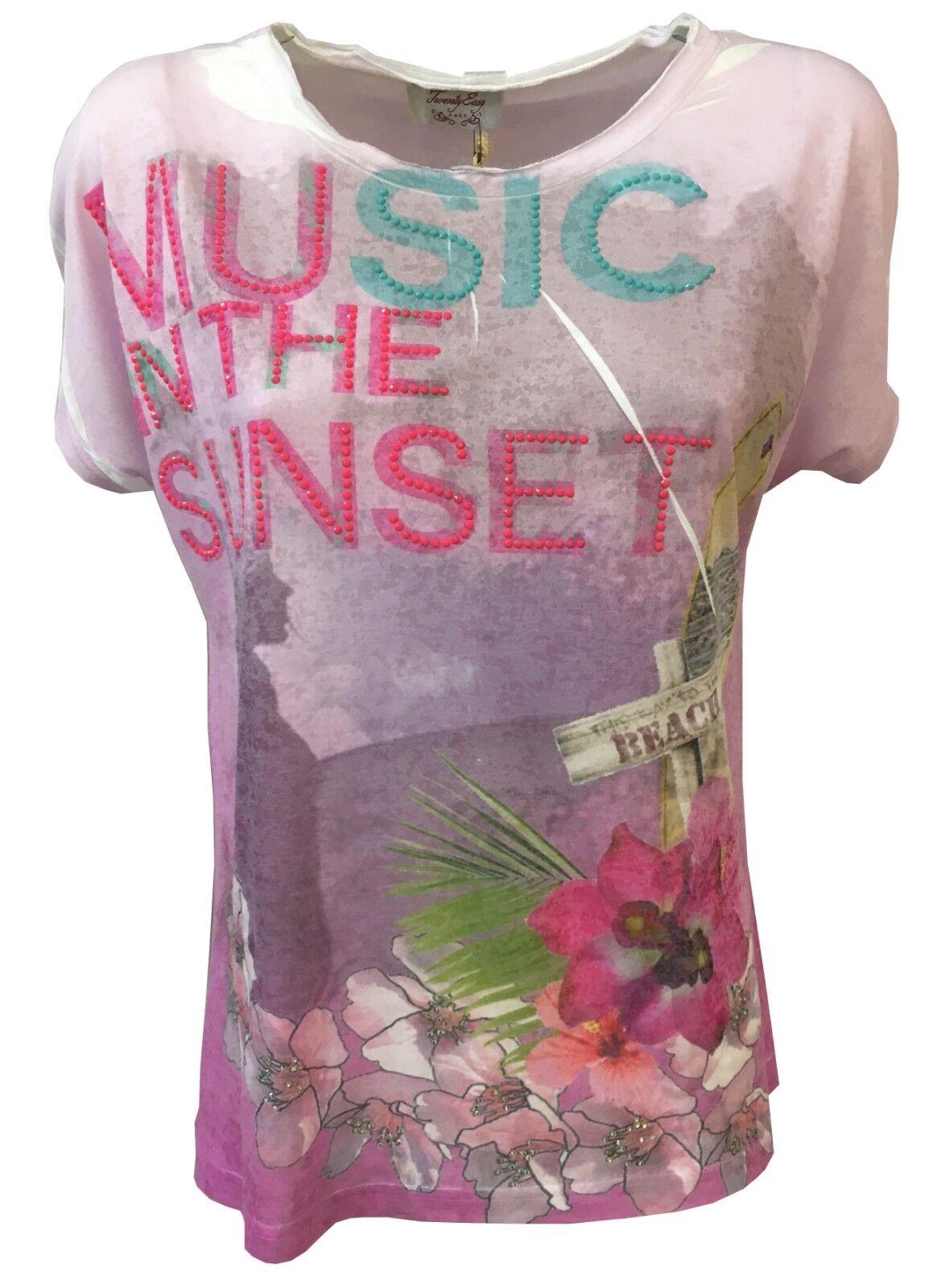 TWENTY EASY by KAOS t- Hemd Frau 82% Polyester 18% Viskose made in italy