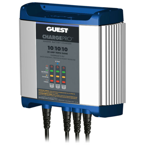 Guest 2731A On-Board Battery Charger 30A 12V 3 Bank 120V Input