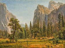 Bridal Veil Falls, Yosemite Valley, California by Albert Bierstadt Canvas Print