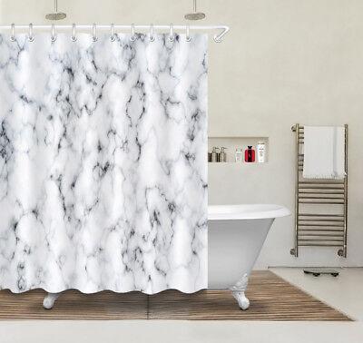 72x72/'/' Marble Stone Texture Bathroom Fabric Shower Curtain Waterproof 12 Hooks