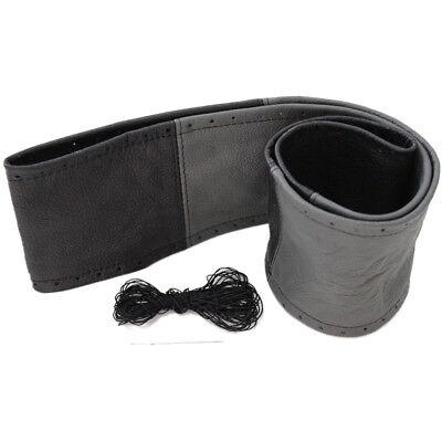 Lenkradschoner zum Schnüren Leder Schwarz Grau passend für DAF XF 95 105 106