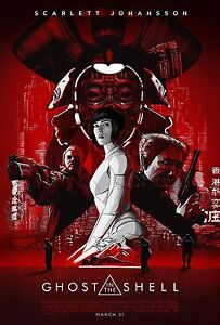 Ghost In The Shell Movie Poster 24x36 Scarlett Johansson Michael Wincott V4 Ebay