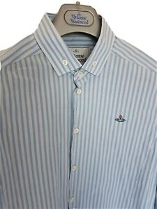 Mens-MAN-by-VIVIENNE-WESTWOOD-fitted-long-sleeve-shirt-size-48-medium-RRP-260