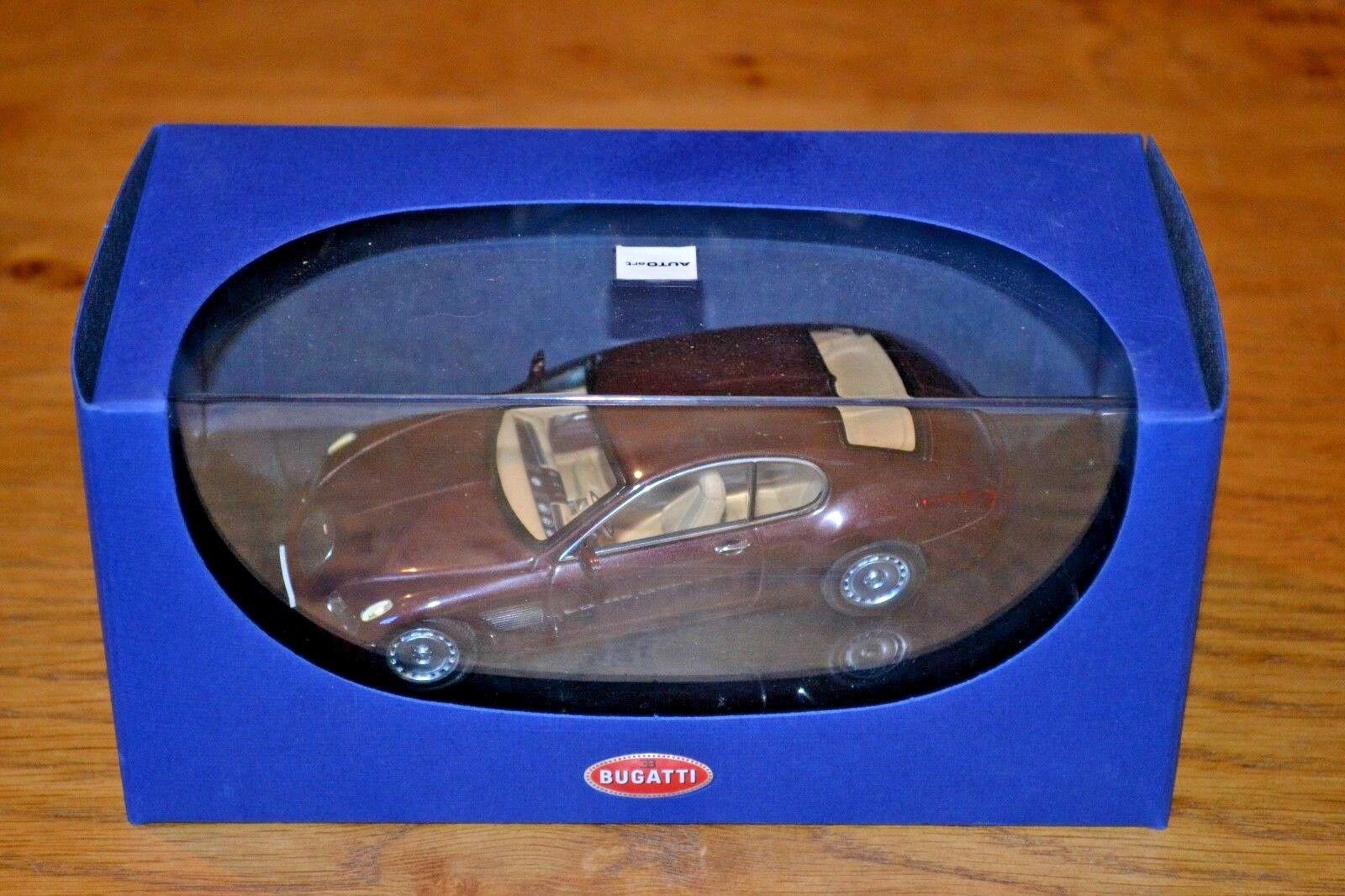 Autoart 1   43 bugatti eb118 genf 2000 dark rot metallic, fast wie neu