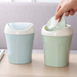 Mini Small Trash Garbage Can Plastic, Small Bathroom Trash Can With Swing Lid
