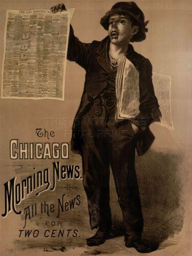 ART PRINT POSTER ADVERT NEWSPAPER PRESS CHICAGO MORNING NEWS NOFL0735