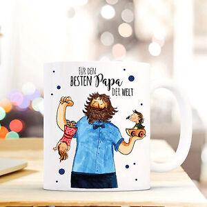 Baby Geschenk- & Werbeartikel Konstruktiv Tasse Vatertag Kaffebecher Mit Vater Kindern & Spruch Bester Papa Der Welt Ts454 Einfach Zu Reparieren