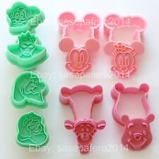 Mickey, Minnie Mouse, Snow White, Dwarfs, Pooh, Tigger cookie cutters 3 sets LOT